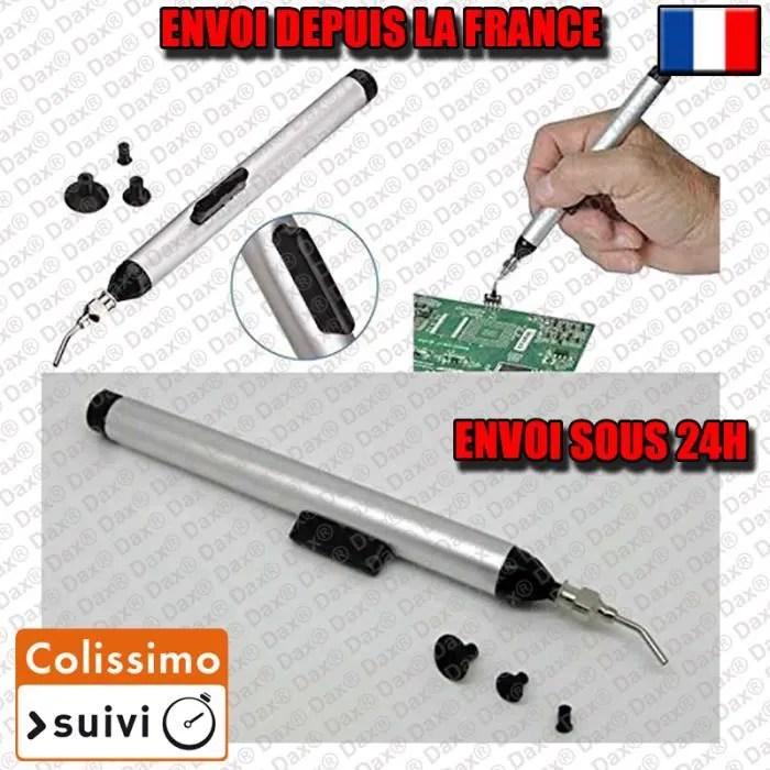 dax stylo pompe a vacuum ventouse pour tenir composants cms souder dessouder