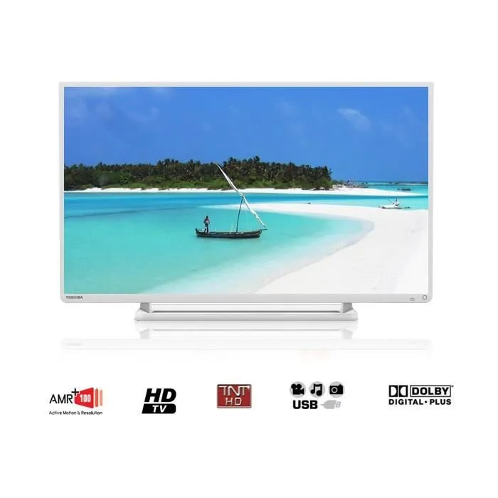 toshiba 32w2434dg tv hdtv 80 cm blanc
