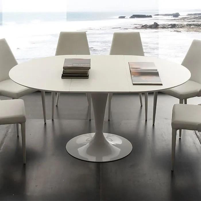 table a manger ronde blanche avec