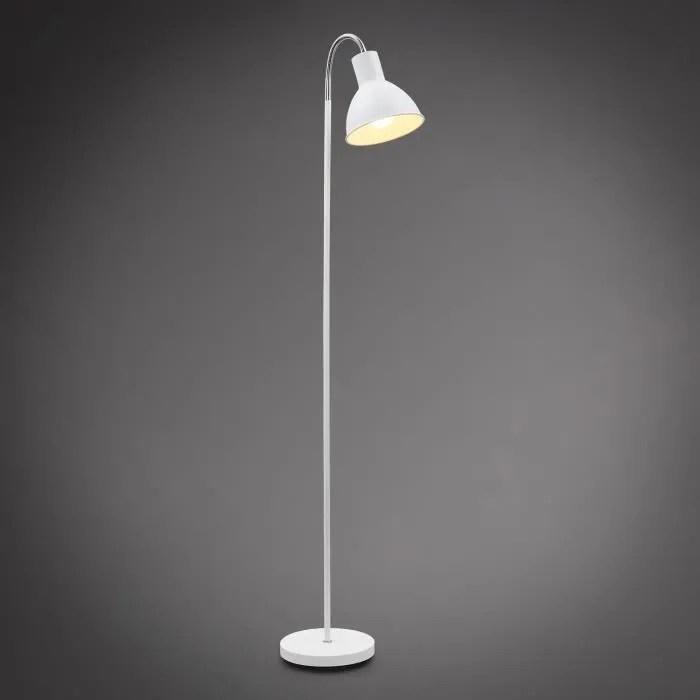 lampadaire design industriel lampe a pied lampe a vasque metal blanche