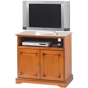 meuble tv merisier