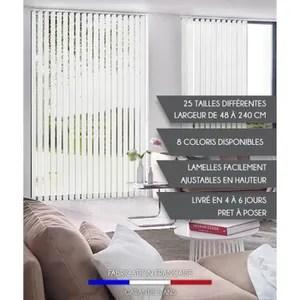 rideaux a lamelles verticales
