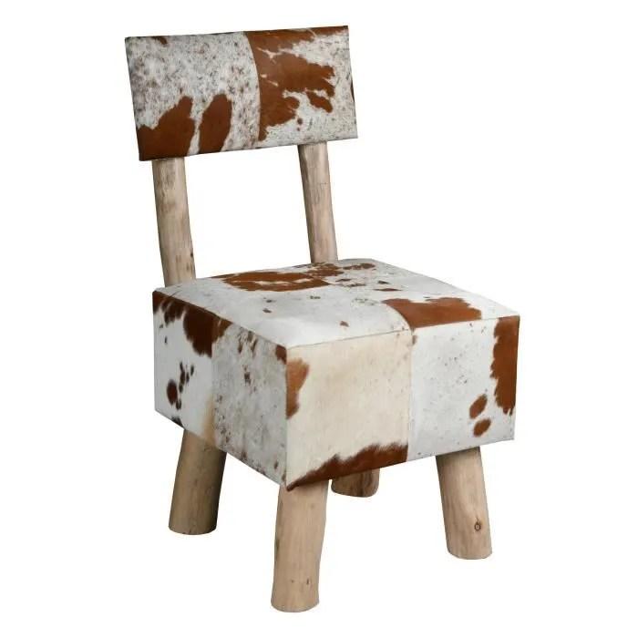 chaise peau de vache