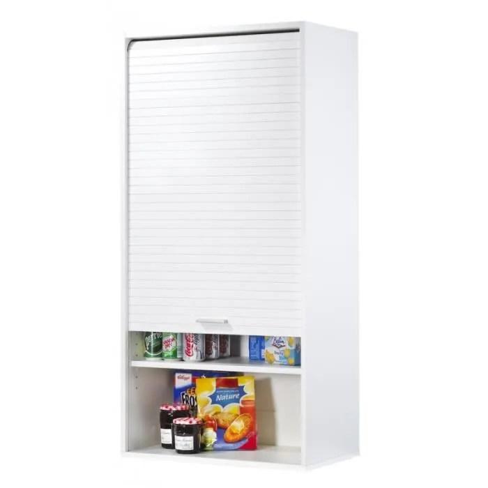 meuble cuisine blanc haut 124 cm x 60 cm simmob meubles de cuisine cuisine