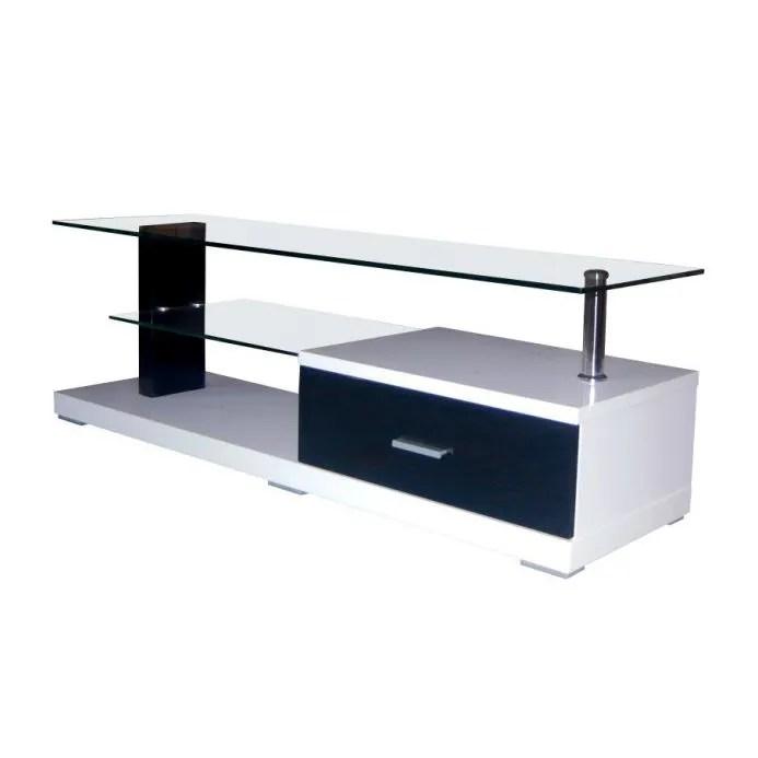meuble tv laque noir et blanc athletico