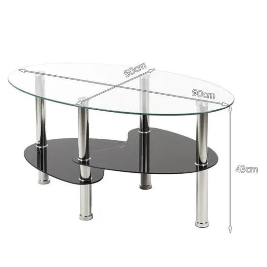 table de salon table basse en verre noire barcelone salon