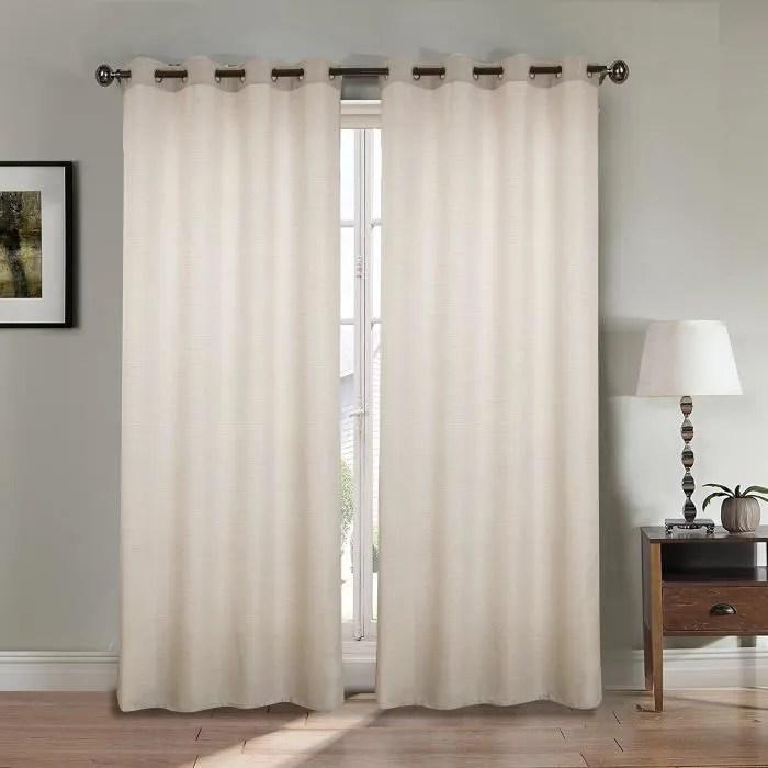 rideaux en lin longueur 240 gris