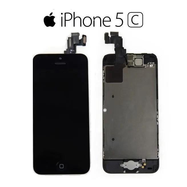 ecran iphone 5c noir complet lcd retina sans