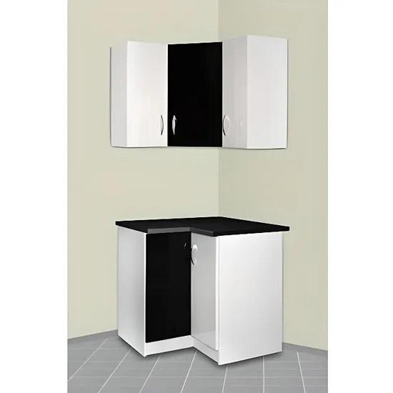 meuble cuisine d angle haut et bas oxane gris
