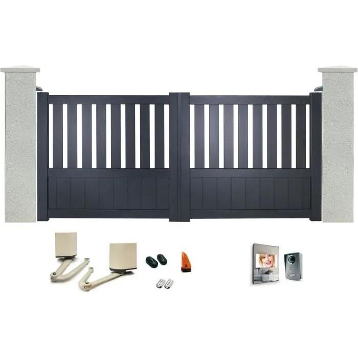 portail battant baya en aluminium 3m