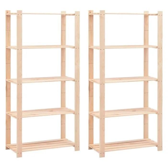 etageres de rangement pour garage etagere d atelier bibliotheque a 5 niveaux 2 pcs 80x38x170 cm 250 kg