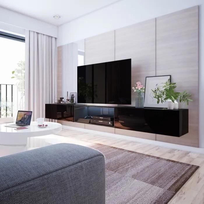 meuble tv suspendu meuble de salon larka 3x1