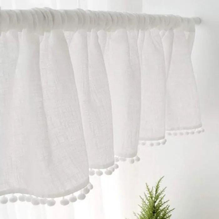 rideau petite fenetre blanc