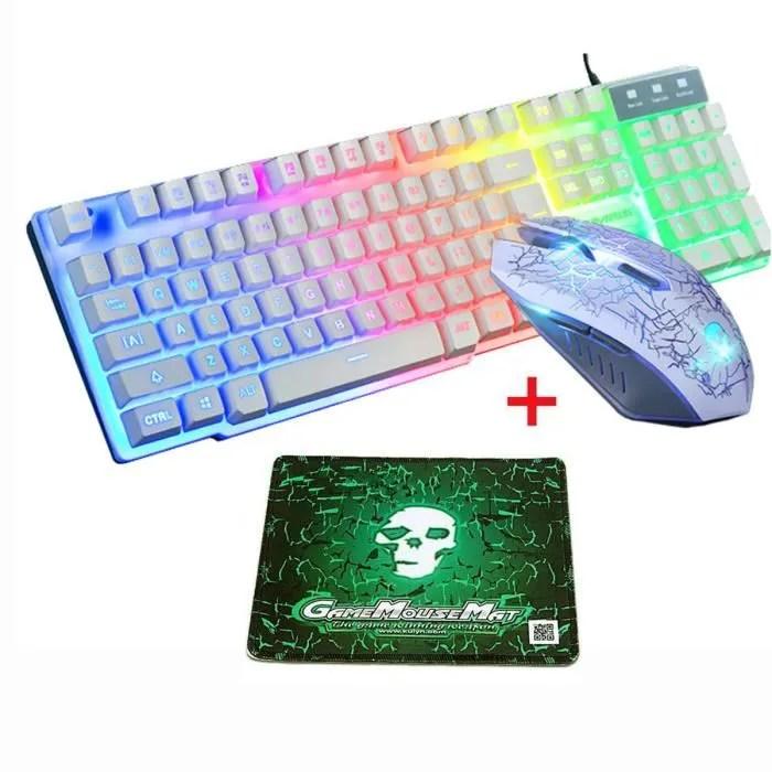 pack clavier souris et tapis de souris gamer clavi