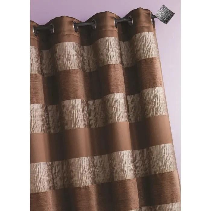rideau rayures horizontales