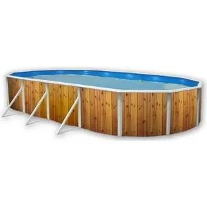 piscine bois ovale