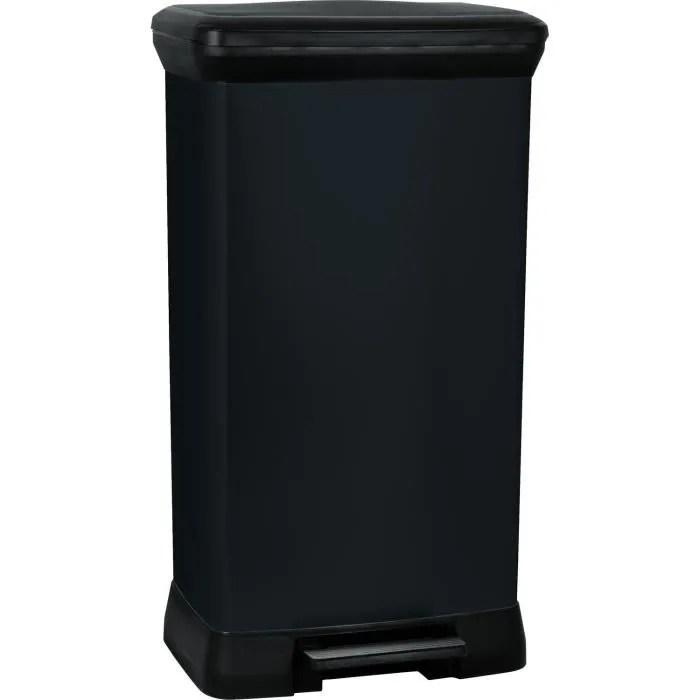 curver poubelle a pedale 50 l noir