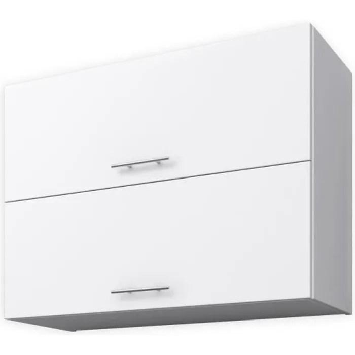 obi meuble haut de cuisine l 80 cm blanc mat