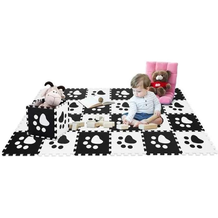 costway puzzles tapis mousse 24 pcs en eva avec mo