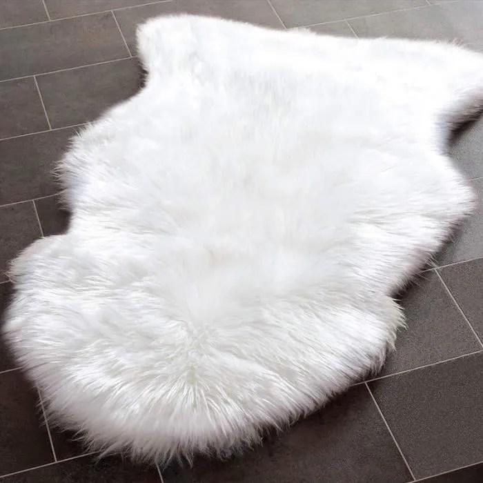 tapis en fausse fourrure imitation