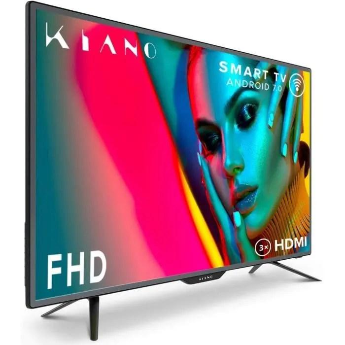 televiseur kiano slim tv 40 pouces smart tv 100 c