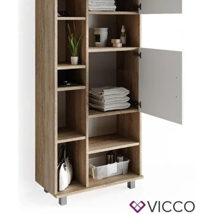 meuble etagere blanc 60 cm