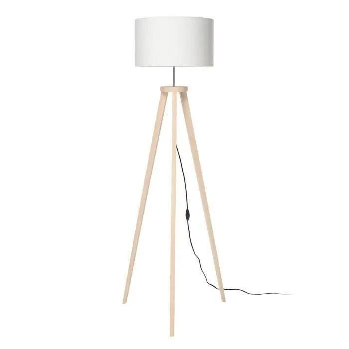 malmo lampadaire en bois avec abat jour