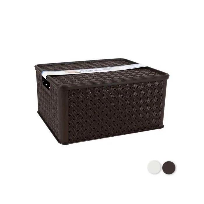 boite de rangement avec couvercle tontarelli 13 l plastique 33 x 29 x 16 cm noir