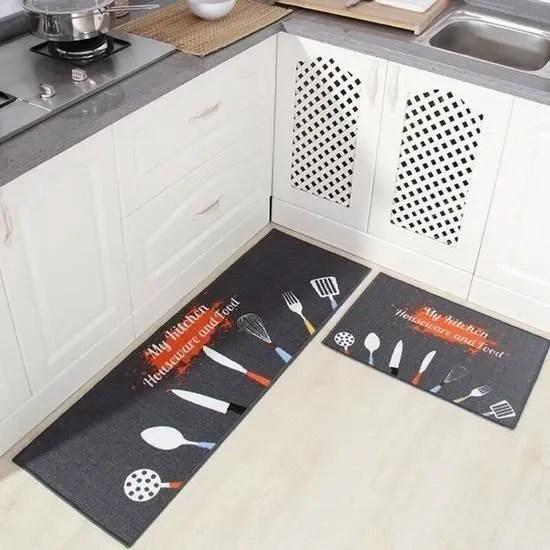 tapis de cuisine devant evier 2 pieces tapis cui
