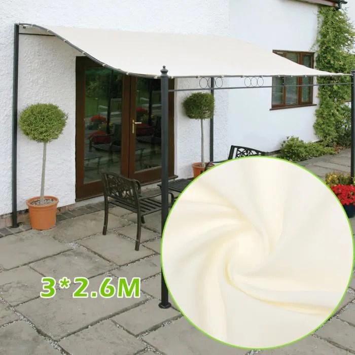 3x2 6m voile d ombrage carre protection contre le soleil avec protection uv pour jardin terrasse ou camping beige
