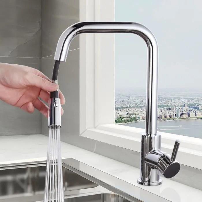 wowow robinet cuisine avec douchette mitigeur evier rotatif mitigeur cuisine extractible avec 2 jets d eau mousseur robinet evier