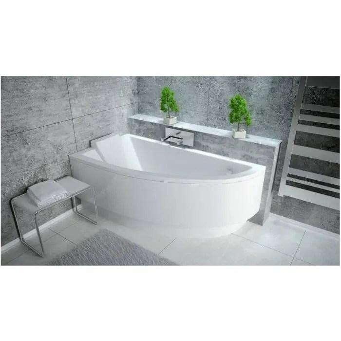 baignoire d angle oriego 140 cm droite
