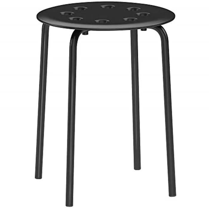 New Ikea Tabouret Empilage Marius Empilable 45cm Hauteur D Assise Acier Noir Achat Vente Tabouret Soldes Sur Cdiscount Des Le 20 Janvier Cdiscount