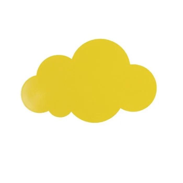 cartoon le fer nuage led appliques murales chambre de garcon chambre des filles chambre de bebe mignonne decoration applique jaune