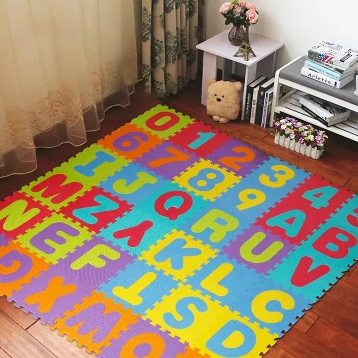 puzzle tapis de jeu enfant en mousse eva dalle mo