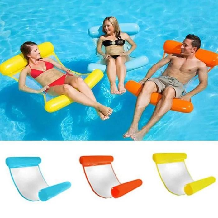 jouets flottants de l eau d ete de siege gonflable pliable de piscine jaune