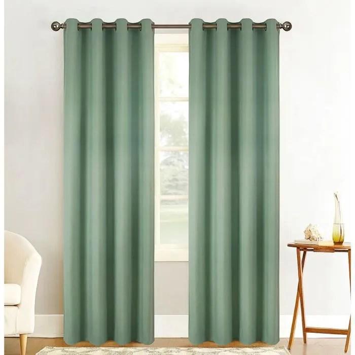 paire de rideaux vert
