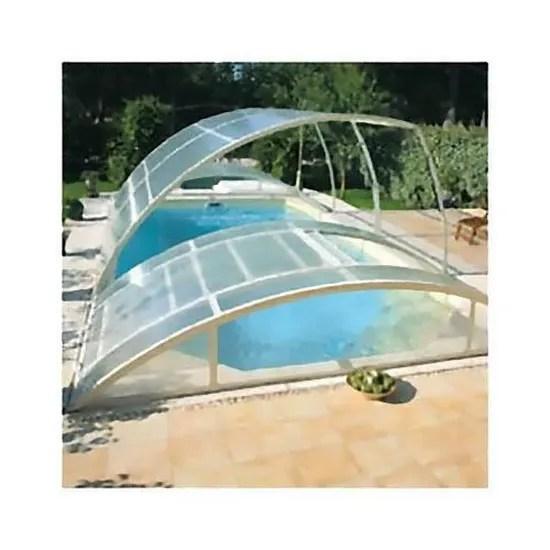 abris piscine bas clair 12m x 5m a