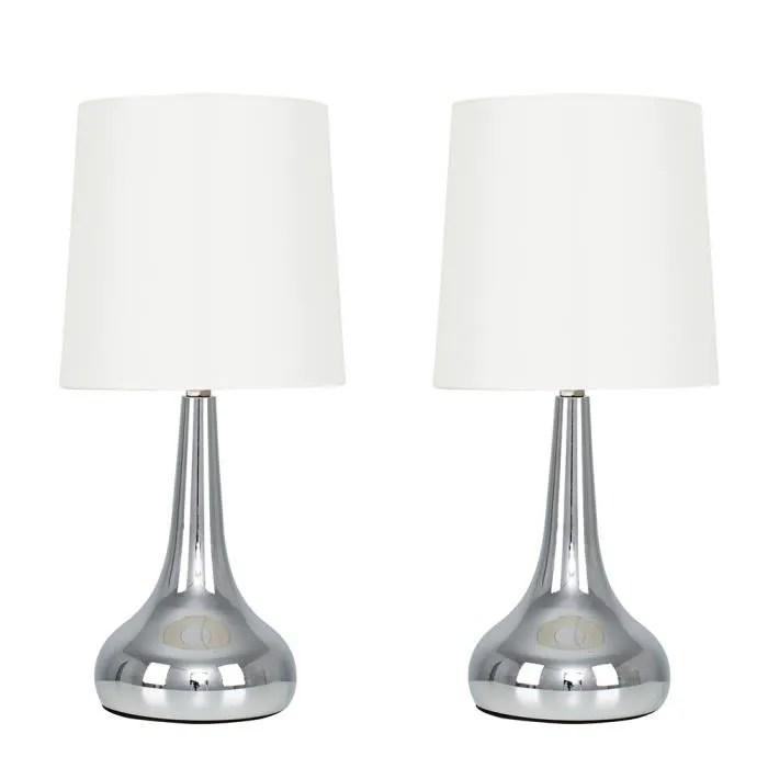 lot de 2 elegant lampes a poser avec