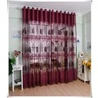 2pcs 250 100cm rideaux a moitie ombrage grillee