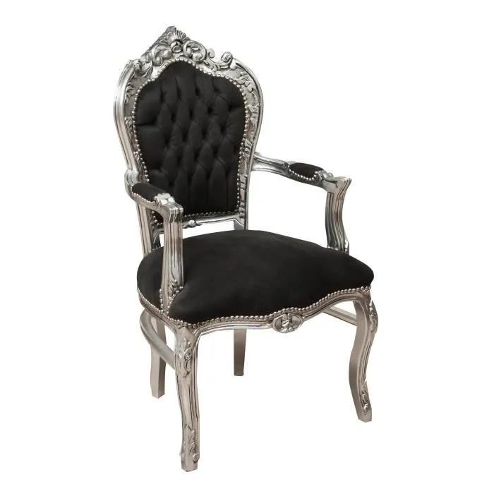 fauteuil louis xvi de style francais en hetre massif sculpte et fini a la main avec patine en feuille d argent l60xpr60xh107 c