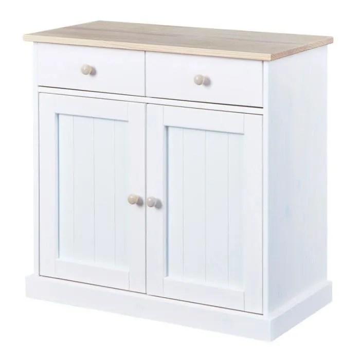 manaus meuble bas 2 portes 2 tiroirs