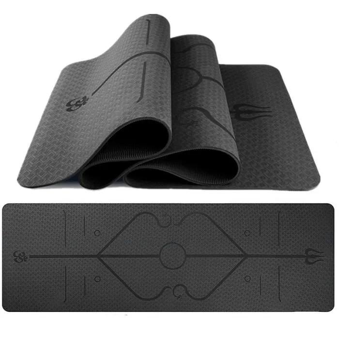 tapis de yoga antiderapant epais 6 mm ecologique