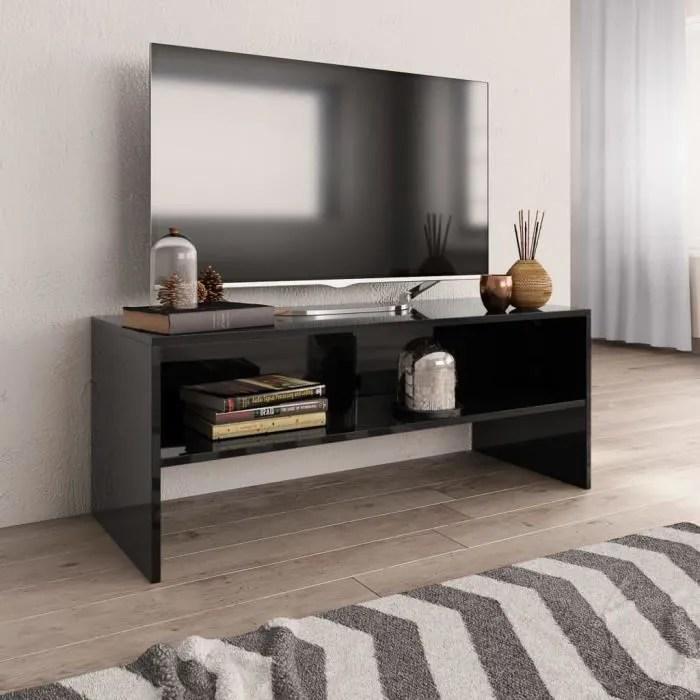 meuble tv noir deco maison du monde
