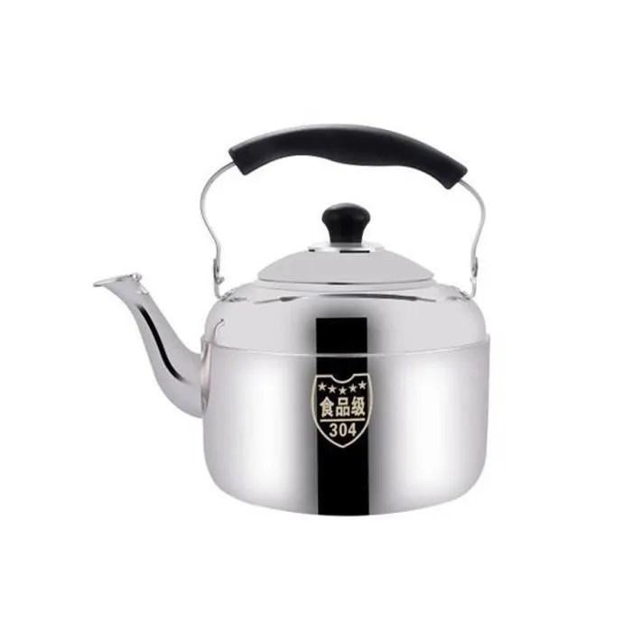 soy2 theiere pour gaz induction cuisiniere restaurant cafe sifflement acier inoxydable bouilloire cuisiniere camping exterieur m