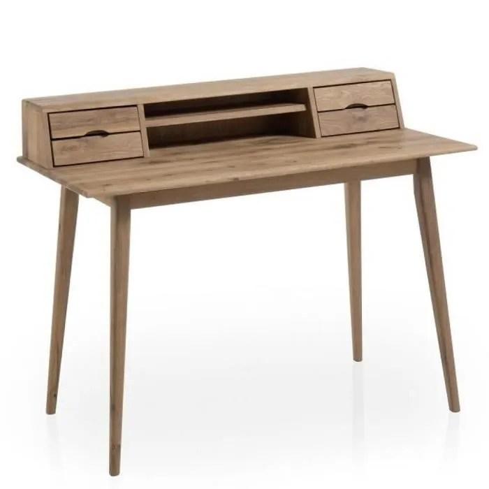 bureau tucson style scandinave chene noueux massif vintage chene inside75