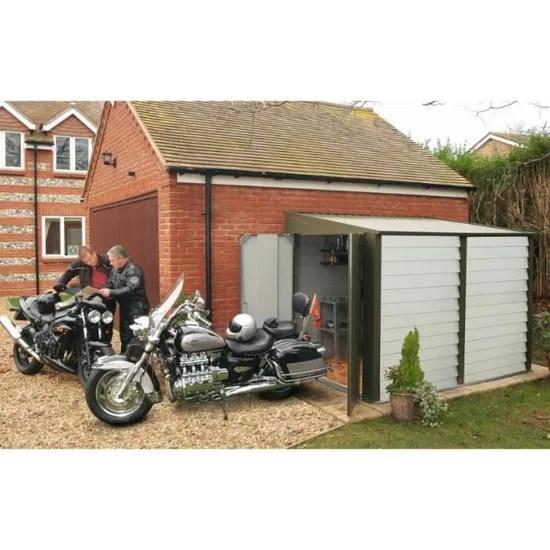abri moto en metal vert 5 54 m2