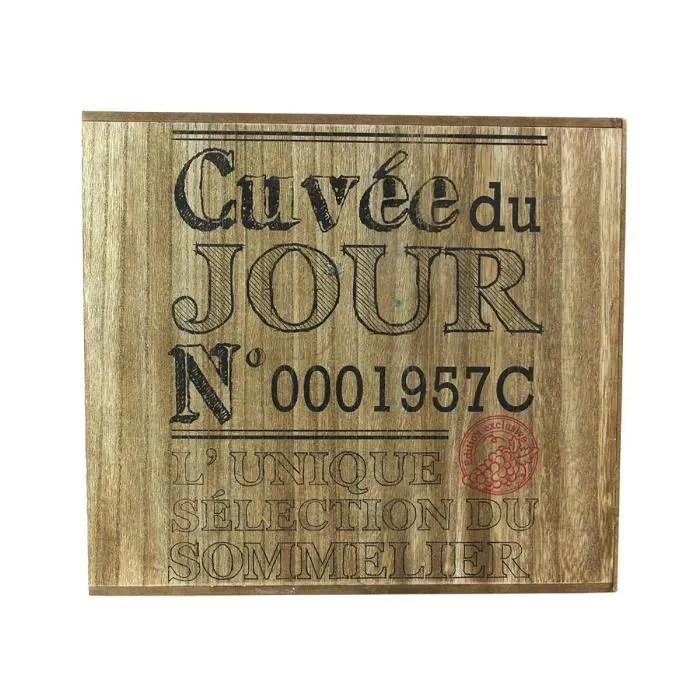 cave a vin 6 bouteilles bois cuvee du jour autres beige