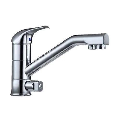 robinet 3 voies chrome cuisine mitigeur avec filtre eau separe levier et bec interne separee