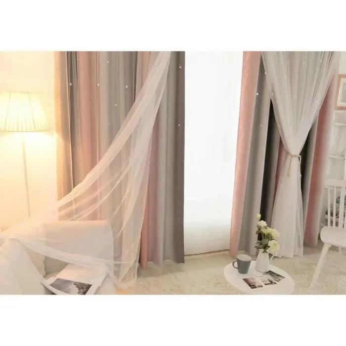 rideau d ombrage en etoile a double couche avec de